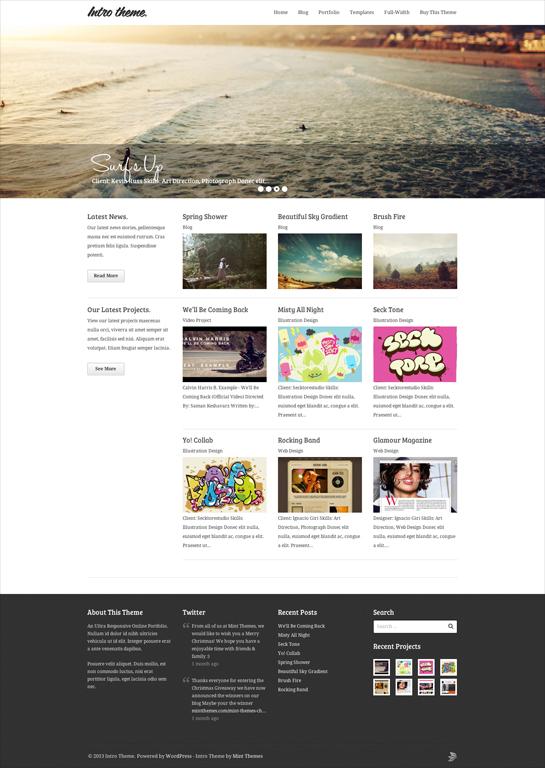 Intro - Responsive Portfolio WordPress Theme