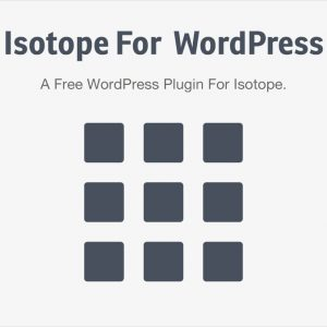 Isotope For WordPress