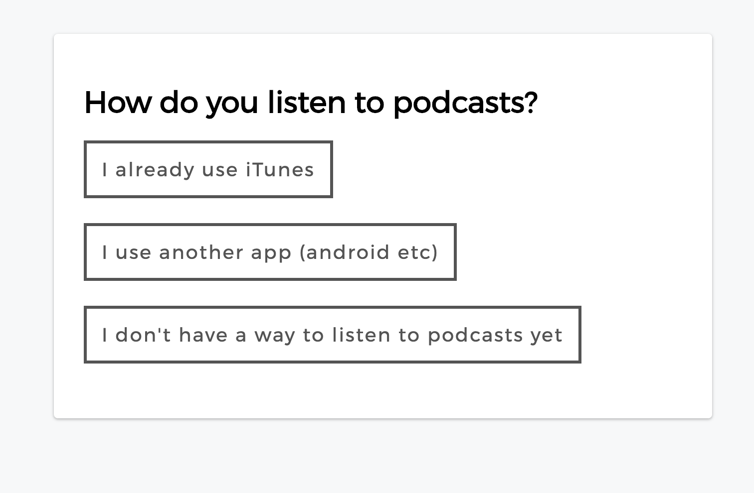 New podcast subscribe options