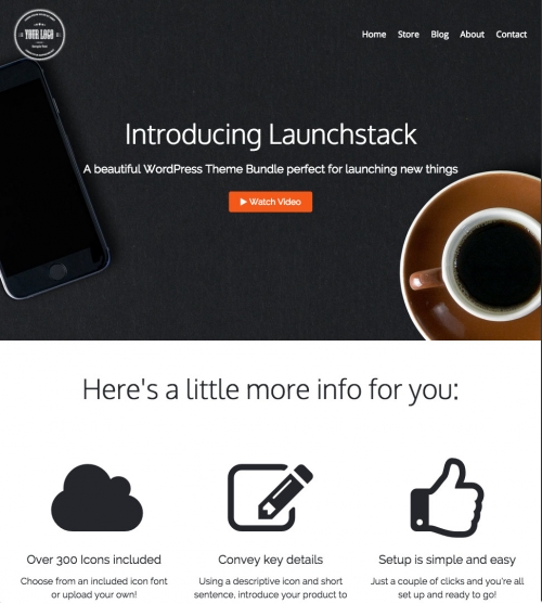 Product Launch WordPress Themes